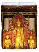 Wat Chedi Luang Wora Wihan Duvet Cover by Greg Vaughn - Printscapes
