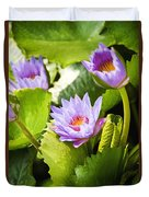 Water Lilies Duvet Cover by Ray Laskowitz - Printscapes