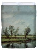 Water Meadows near Salisbury Duvet Cover by John Constable