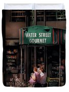 Water St Gourmet Deli Duvet Cover by Mike Savad