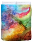 Watercolor Collage Duvet Cover by Jamie Frier