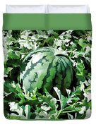 Waterelons In A Vegetable Garden Duvet Cover by Lanjee Chee
