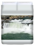 Waterfall At Ohiopyle State Park Duvet Cover by Larry Ricker
