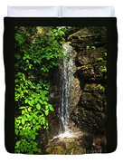 Waterfall In Forest Duvet Cover by Elena Elisseeva