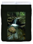 Waterfall In The Woods Duvet Cover by Kathy Yates