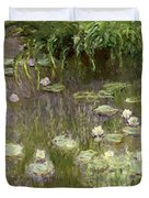 Waterlilies at Midday Duvet Cover by Claude Monet