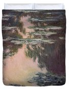 Waterlilies With Weeping Willows Duvet Cover by Claude Monet