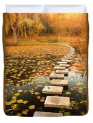 Way In The Lake Duvet Cover by Evgeni Dinev
