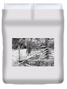 Weathered Fence Duvet Cover by Larry Ricker