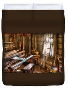Weaver - The Weavers Room Duvet Cover by Mike Savad