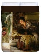 Welcome Footsteps Duvet Cover by Sir Lawrence Alma-Tadema