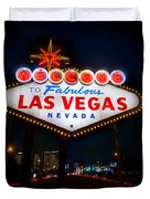 Welcome to Las Vegas Duvet Cover by Steve Gadomski