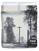 Welcome to twin Peaks Duvet Cover by Ludzska
