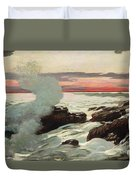 West Point Prouts Neck Duvet Cover by Winslow Homer