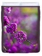 Wet Purple 2 Duvet Cover by Mike Reid