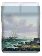 Whalers Coming Home Duvet Cover by American School