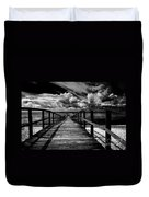 Wharf At Southend On Sea Duvet Cover by Avalon Fine Art Photography