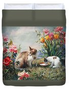 What A Girl Kitten Wants Duvet Cover by Svitozar Nenyuk