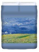 Wheatfields Under Thunderclouds Duvet Cover by Vincent Van Gogh
