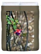 Wheel And Fushia Blossom Duvet Cover by Douglas Barnett