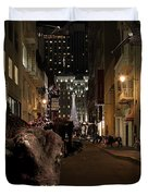 When The Lights Go Down In The City Duvet Cover by Wingsdomain Art and Photography