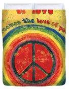 When The Power Of Love Duvet Cover by Debbie DeWitt