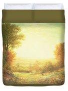 When The Sun In Splendor Fades Duvet Cover by John MacWhirter