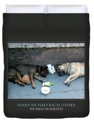 When We Help Each Other Duvet Cover by Donna Corless