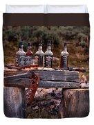 Whiskey And Guns Duvet Cover by Leland D Howard
