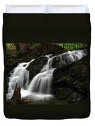 White Mountains Waterfall Duvet Cover by Juergen Roth