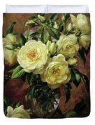 White Roses - A Gift From The Heart Duvet Cover by Albert Williams