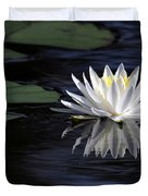 White Water Lily Duvet Cover by Sabrina L Ryan