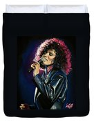 Whitney Houston Duvet Cover by Tom Carlton