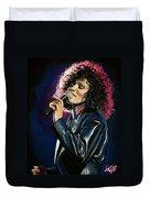 Whitney Houston Duvet Cover by Tom Carlton