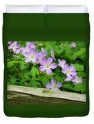 Wild Geraniums Duvet Cover by Michael Peychich