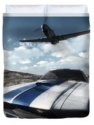 Wild Horses Duvet Cover by Richard Rizzo