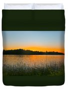 Wilderness Point sunset panorama Duvet Cover by Gary Eason