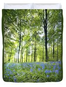 Wildflowers In A Forest Of Trees Duvet Cover by John Short