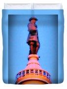 William Penn - City Hall In Philadelphia Duvet Cover by Bill Cannon