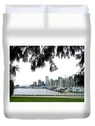 Window To The Harbor Duvet Cover by Will Borden