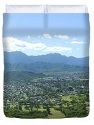Windward Oahu Panorama I Duvet Cover by David Cornwell/First Light Pictures, Inc - Printscapes