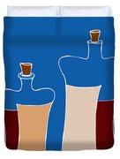 Wine Bottles Duvet Cover by Frank Tschakert