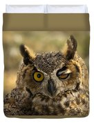 Wink Duvet Cover by Mike  Dawson