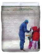 Winter - Re-constructive Surgery Duvet Cover by Mike Savad
