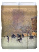 Winter Afternoon In New York Duvet Cover by Childe Hassam