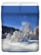 Winter Blanket Duvet Cover by Mike  Dawson