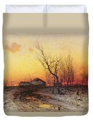 Winter Landscape Duvet Cover by Julius Sergius Klever
