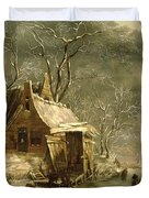 Winter Scene Duvet Cover by Jan Beerstraten