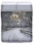 Winter Sunrise Duvet Cover by Sebastian Musial