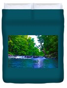 Wissahickon Waterfall Duvet Cover by Bill Cannon